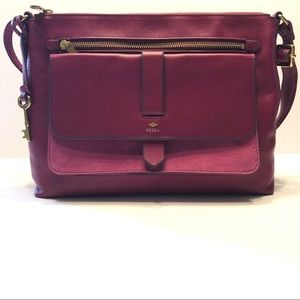 Fossil | Kinley Leather & Suede Crossbody Purse